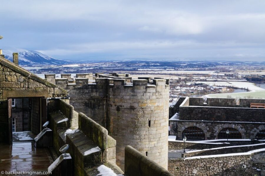 Stirling castle in winter