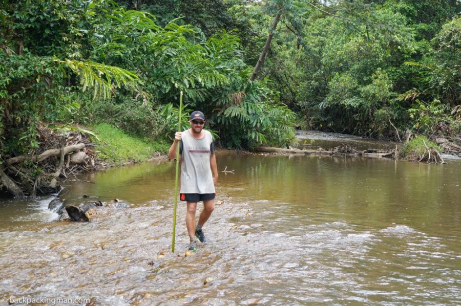 backpacking in Borneo