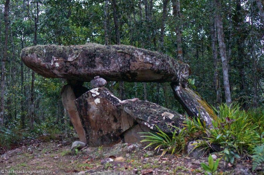 kelabit highlands monolithic stone