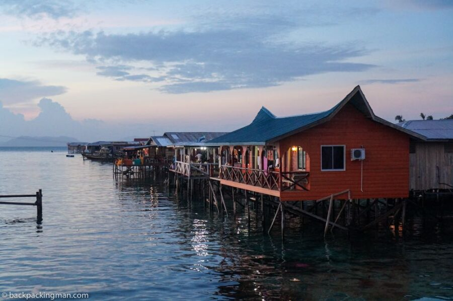 Pulau mabul sea gypsy village