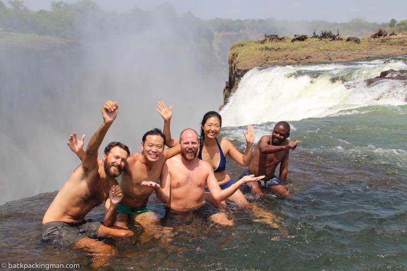 devils pool Livingstone Zambia