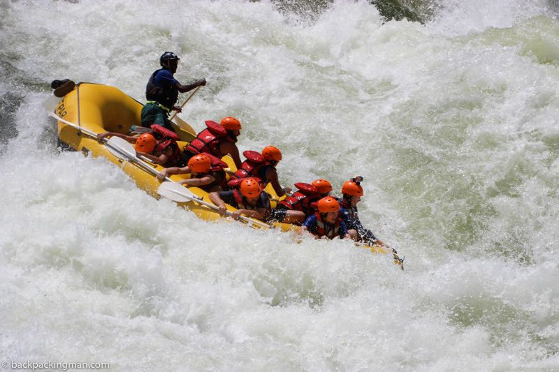 Victoria falls activities white water rafting