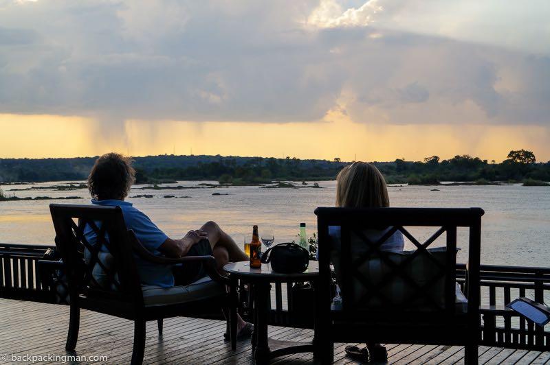 Zambezi River sunset Livingstone Zambia