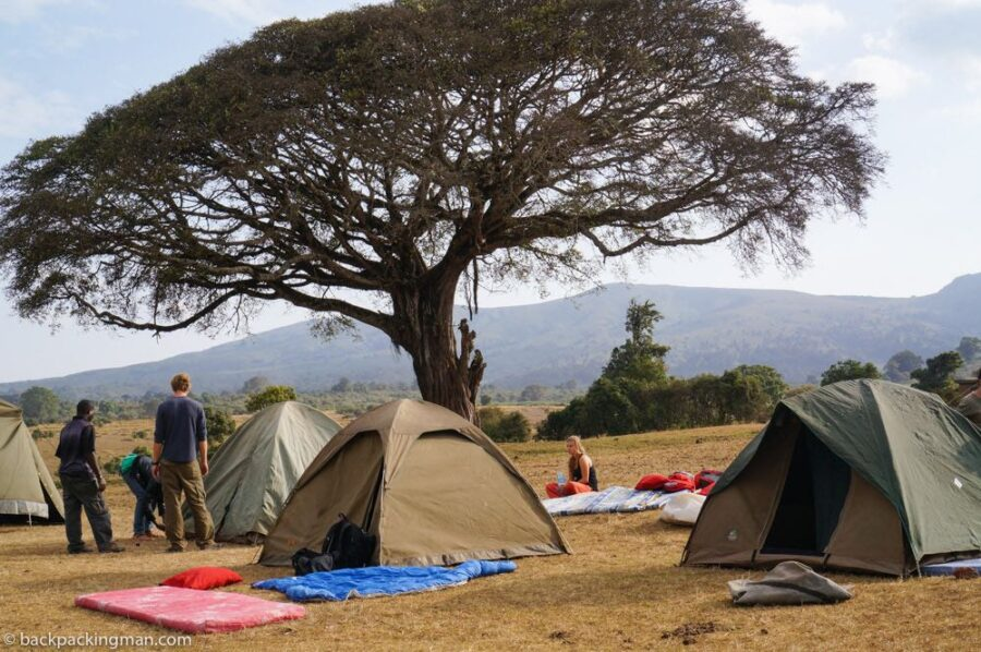 camping in Tanzania Ngorongoro crater