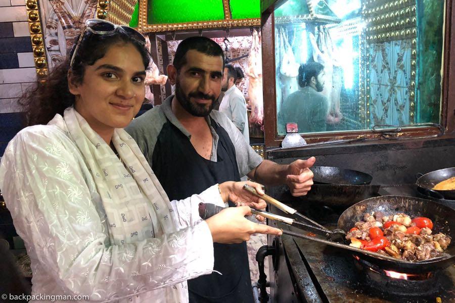 peshawar food Dumba karahi nisar charsi tikka