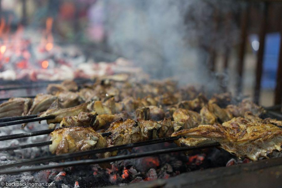 lamb chops barbecued