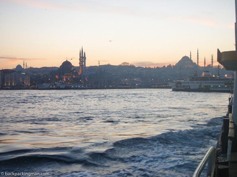 sunset boat Istanbul Bosphorus