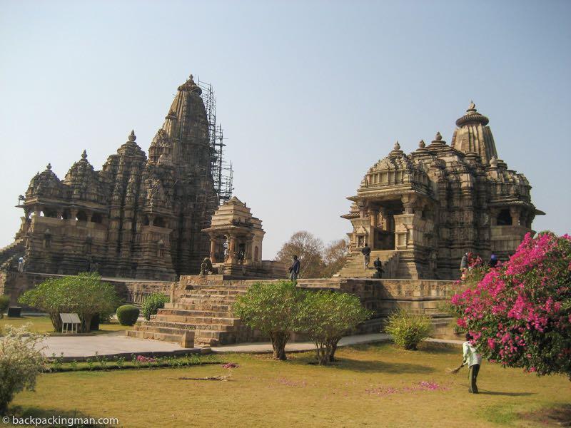 Khajuraho temple sculptures of India