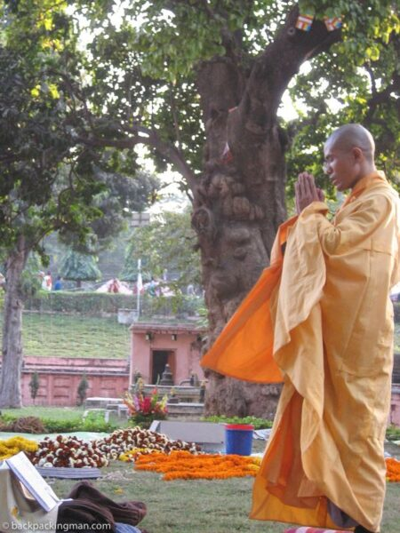 thai monk bodh gaya