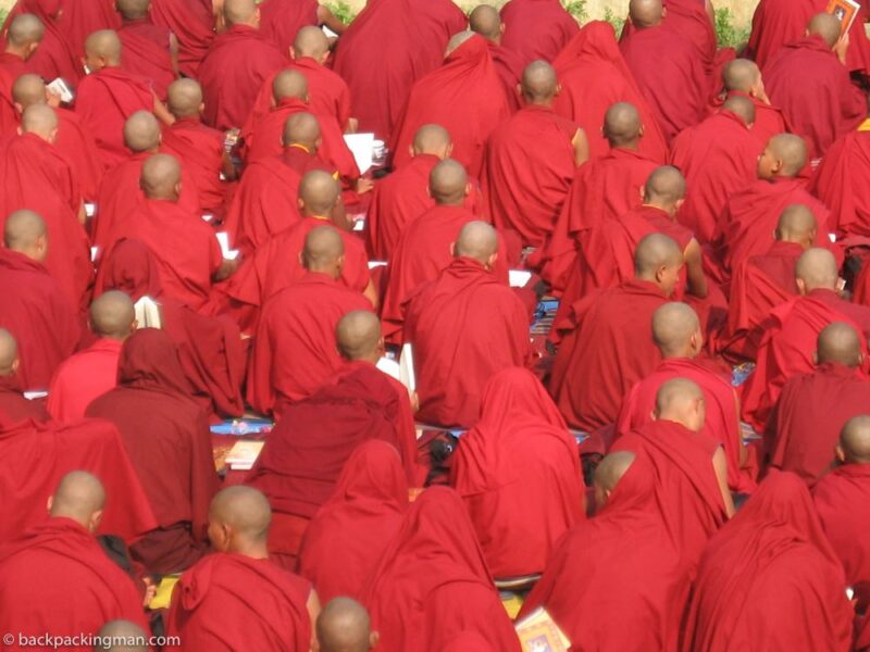 tibetan monks bodh gaya