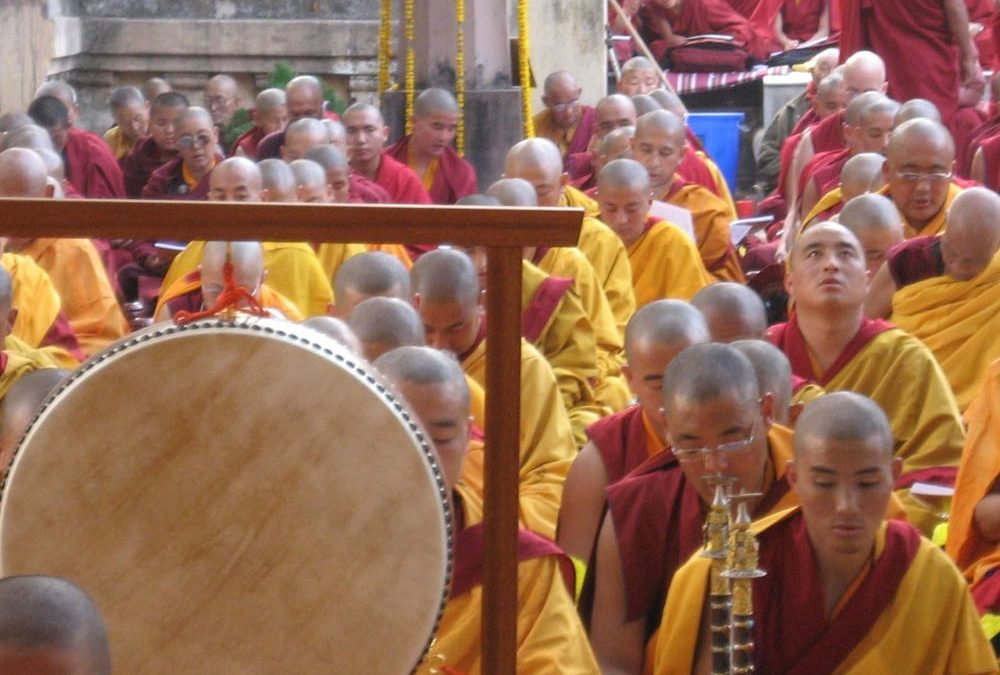 Tibetan monks buddhism bodh gaya