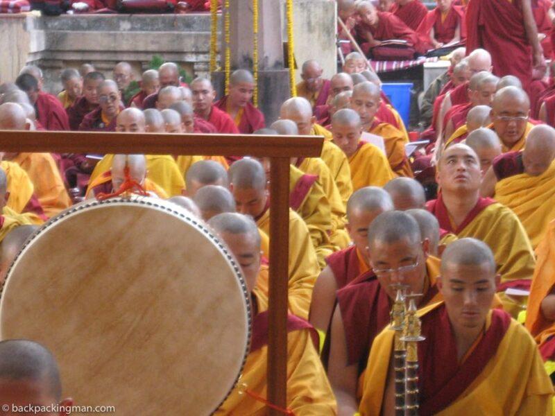 Tibetan monks buddhism bodh gaya