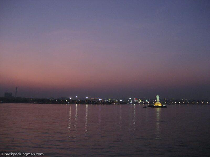 Hyderabad lake sunset