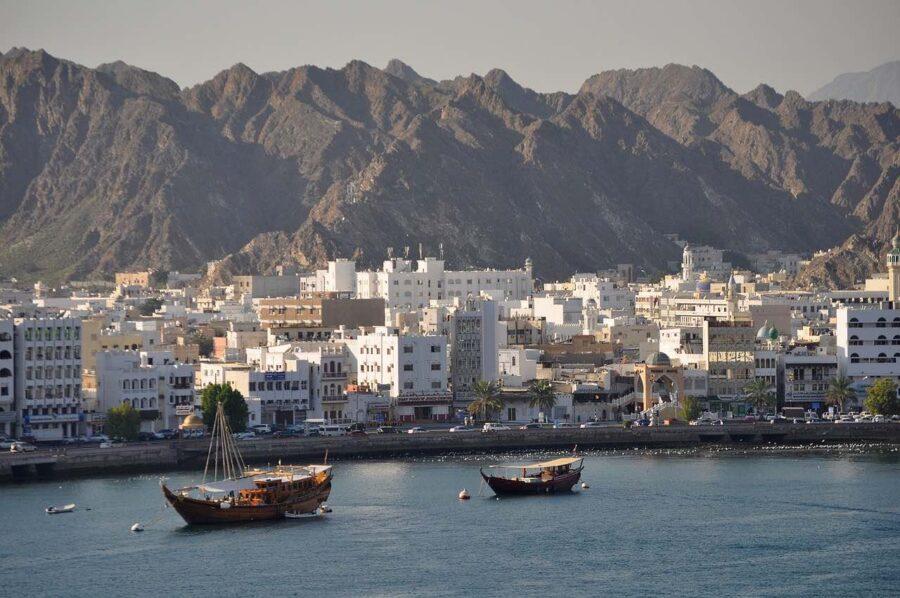 muscat corniche dhow boats Oman