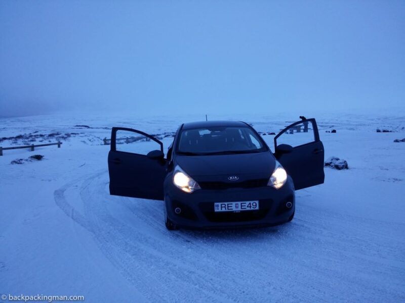 ice road in Iceland