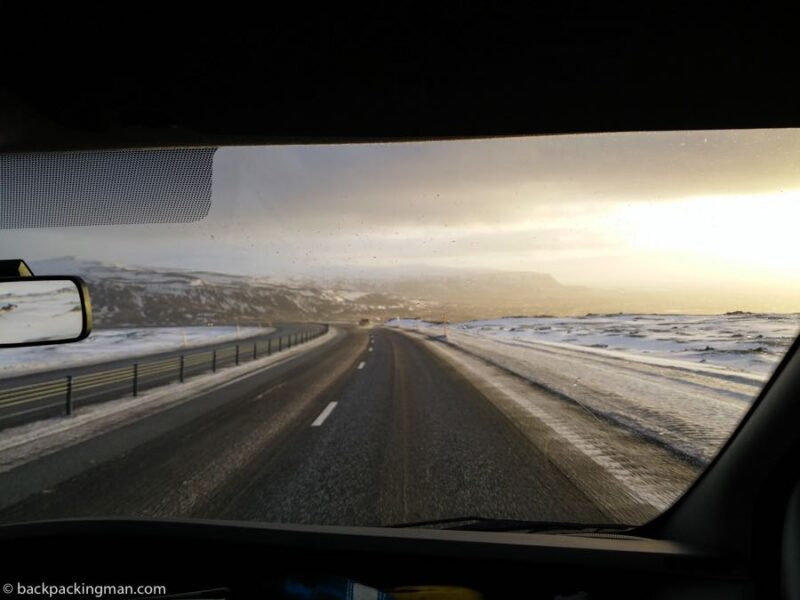driving in Iceland in winter