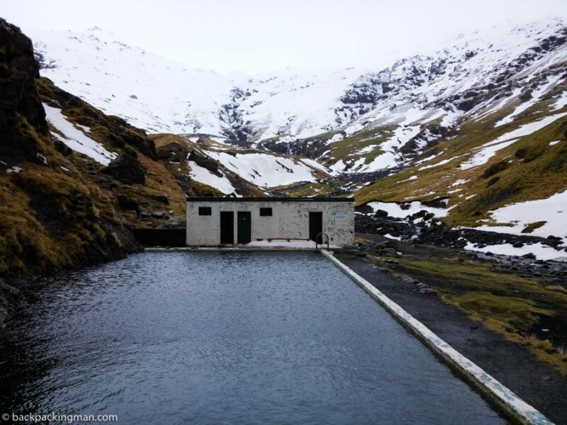 hot springs in Iceland in winter