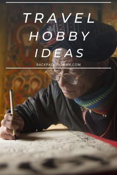 TRAVELING HOBBY IDEAS MAN DRAWING