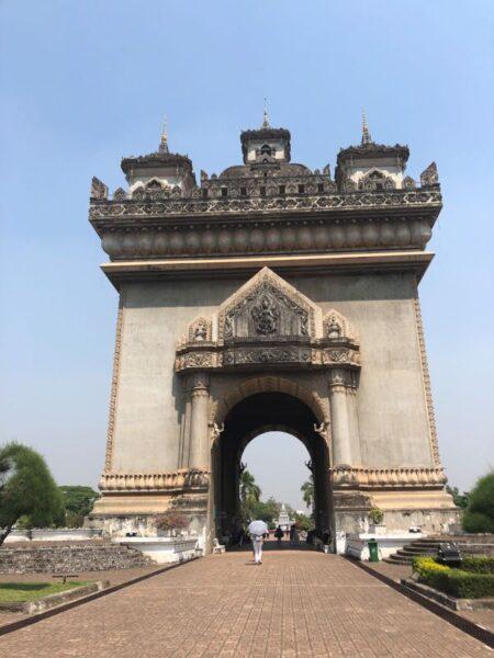 archway in Vientiane