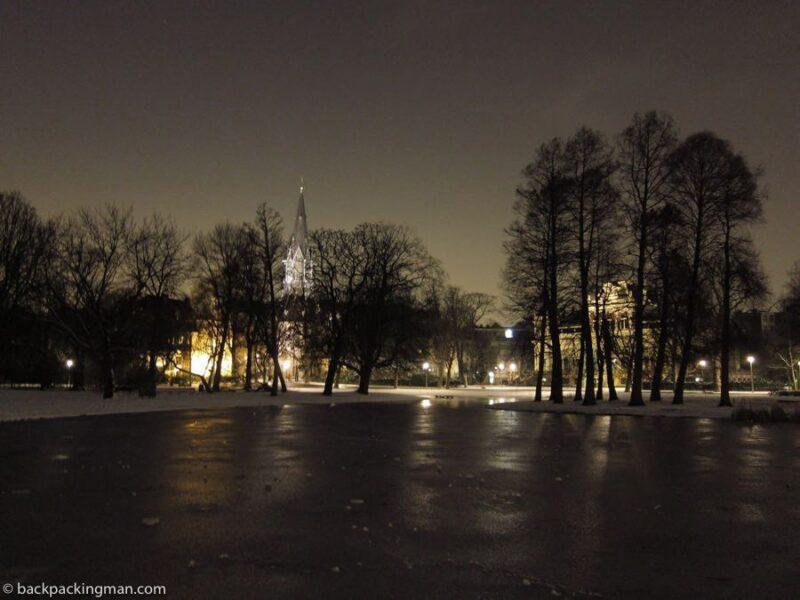 Vondelpark in winter