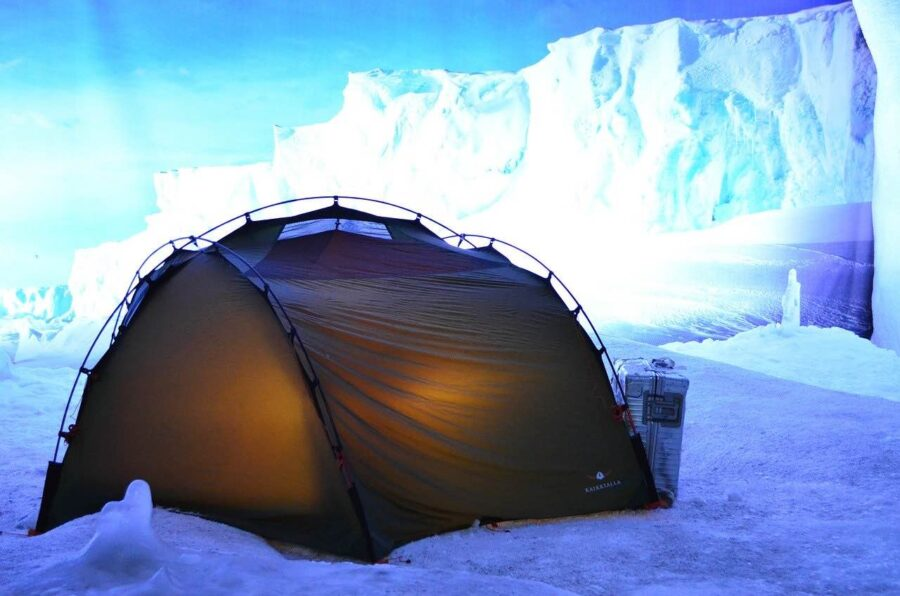 survival movies tent in ice