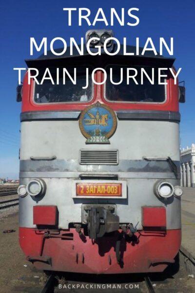 trans Mongolian train