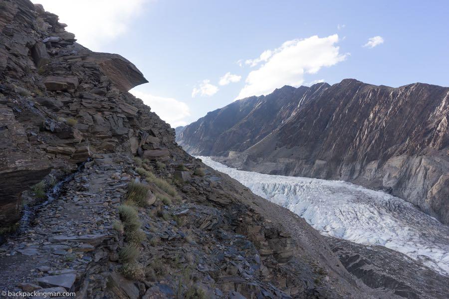 hiking Passu Glacier in Pakistan