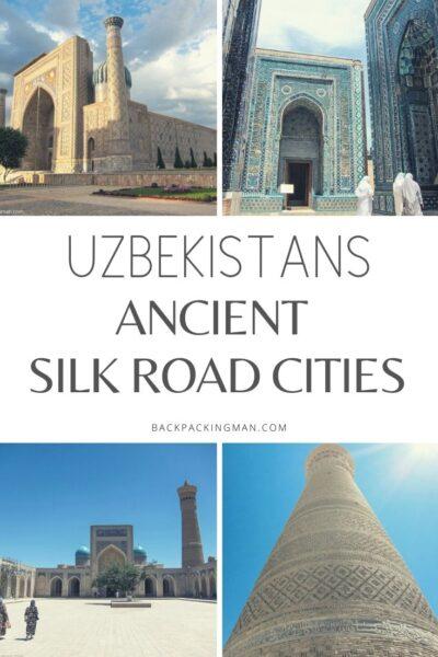 Uzbekistans cities Samarkand Bukhara
