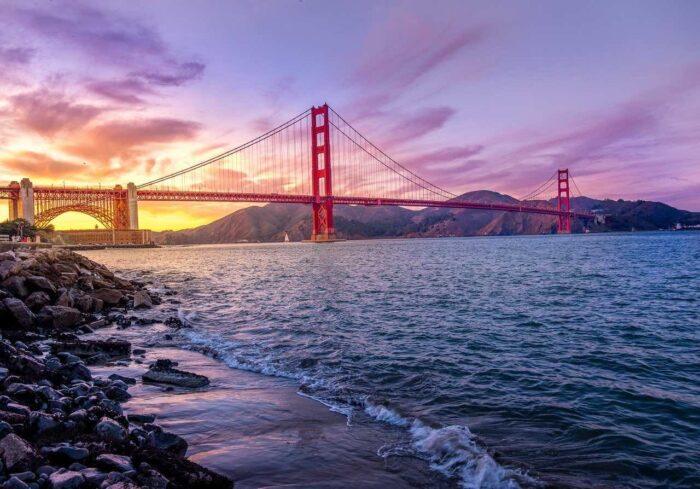 places to visit in San Francisco - Golden Gate Bridge
