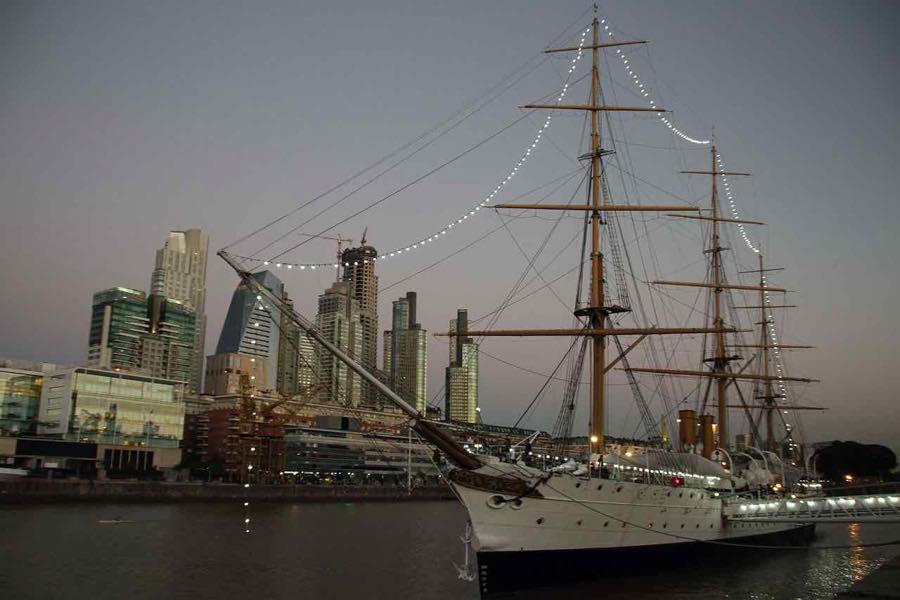 ship at Buenos Aires waterfront