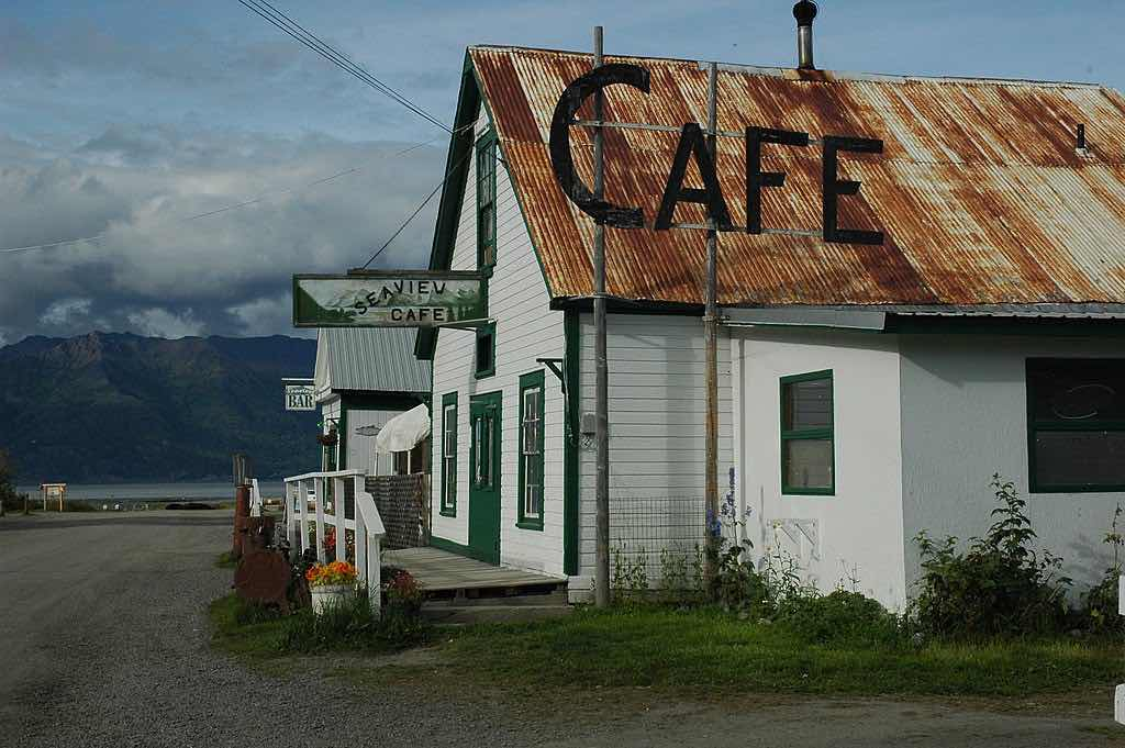 Cafe in Hope Alaska Kenai Peninsula