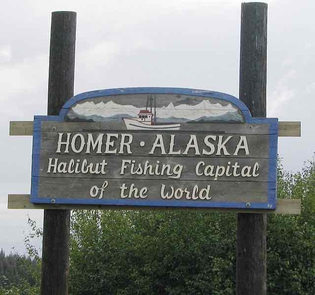 fishing sign in Homer Alaska
