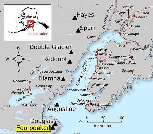 map of the Kenai Peninsula in Alaska