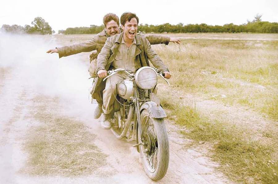 South America travel movie - 2 men on motorbike