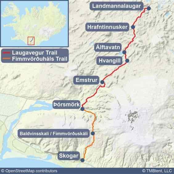 Laugavegur Trail map advice